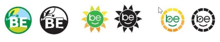 BE logos